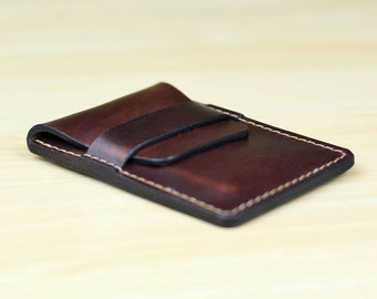 Leather business card holder etsy leather business card holder personalized leather business card case leather card case leather reheart Choice Image