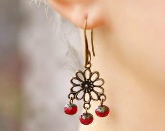 Unique Gypsy Earrings Bronze Chandelier Earrings Gypsy Earrings Dangle Boho Earrings Bronze Earrings Boho Chandelier Earrings Hippie Earring