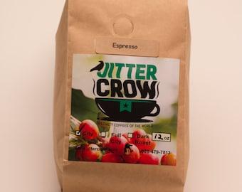Freshly Roasted Espresso Coffee Beans 12 oz