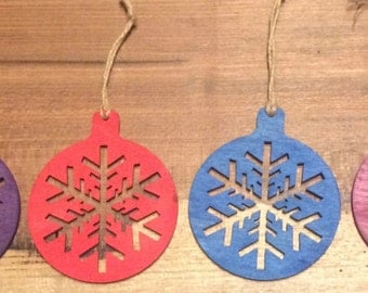 Laser Engraved Christmas Ornaments