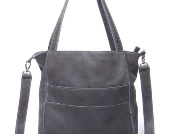 Gray leather bag - only one!