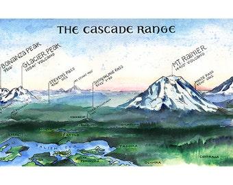 Cascade Range Etsy
