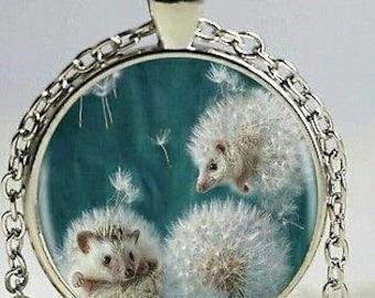 hedgehog animal anime manga picture pendant necklace