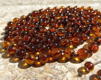 Baltic Amber Mala beads, 108 knotted mala,  8mm prayer beads. Healing jewelry,, Pain relief, Positive mental state, Buddhist prayer beads