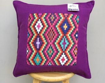 Guatemalan Huipil Upcycled Pillow - Upcycled Fair Trade  (004PI)