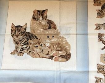 Retro Cat Fabric for Pillows (2 sets)
