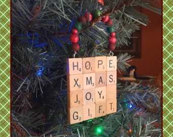 Ornament, Hope, Upcycled Christmas Gift, Rustic Christmas Ornament