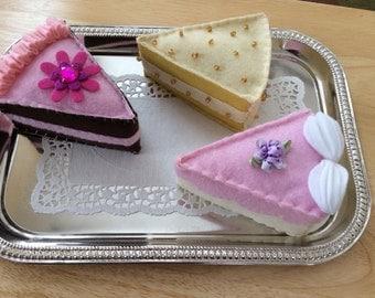 Felt Food Cake Slices Dessert Set