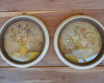 Pair of Hand Painted Lacquer Paintings