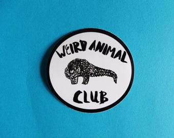 Weird Animal Club Vinyl Sticker