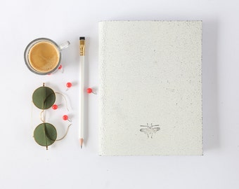 Leather notebook, Leather journal, Sketch pad, White sketch book, Travel booklet, Bound journal, Travel gift, notebook, Travel diary