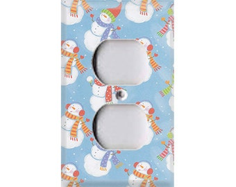 Holiday Snowmen Style 3 Outlet Cover