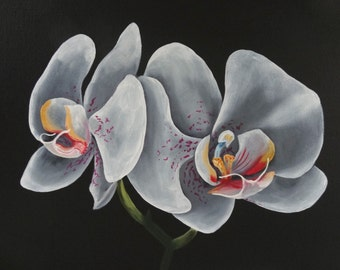 White Orchids - Original Oil Painting