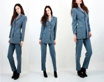 Vintage Two Pieces Suit / Two Pieces Outfit / Formal Suit / Office Suit / Women Suit Size S