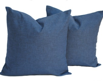 Two Navy pillow covers, Home decor, decorative pillow, throw pillow, Blue pillow, Navy pillow, Navy solid Pillow
