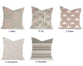 1 Scott Living  Pillow Cover, cushion, decorative pillow, throw pillow, Pink Pillow, HGTV Pillow, Grey Pillow