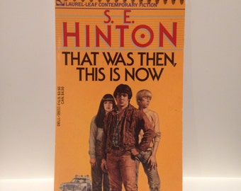 Recycled 100-Page Blank Notebook S.E. Hinton That Was Then This Is Now (Outsiders)