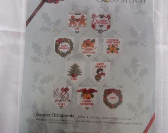 Counted Cross Stitch Kit,  Something Special, Counted Cross Stitch, Banner Ornaments, Christmas Ornaments 1988