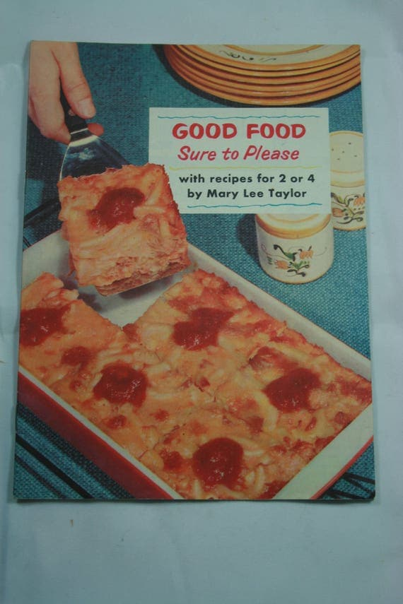 Recipe bookbooklet good food sure to please like this item forumfinder Gallery