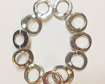 Silver stretchy bracelet - handmade gift