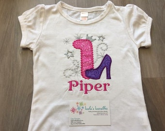 Stiletto posh princess birthday shirt