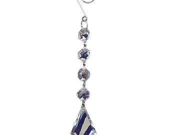 """7.5"""" Hanging Crystal Prisms Decor"""