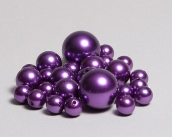 Purple Beads- assorted sizes