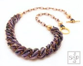 """EBook/Tutorial Necklace """"Grete"""" with Crescents ENGLISH"""