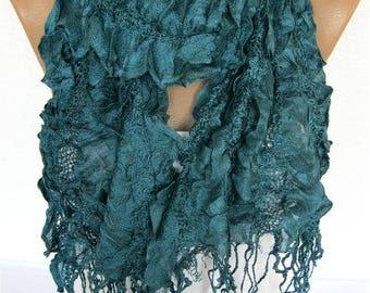 SALE! 9.90 USD -Green Scarf, Trend Scarf- Fashion Scarf- Shawls-Scarves-Gift Scarf-Shawl-Christmas Gift