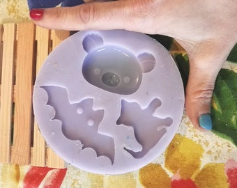 MEGA MOLD! Bear, bat and cat. silicone rubber mold