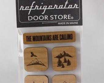 Refrigerator Magnet. Fridge Magnets. Kitchen Magnets. Kitchen Decor. Magnets. Mountains.