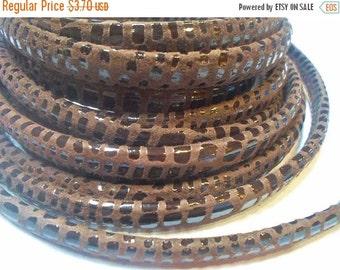 "8"" Brown Cancun Half Round Leather Cord"