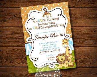 JUNGLE BABY SHOWER Invitation, Baby Shower Invitation, Baby Shower, Invitation