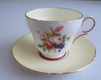 Shelley Hulmes Yellow Rose Vintage Demitasse Cup & Saucer Set