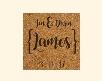 Custom Wedding Cork Signs