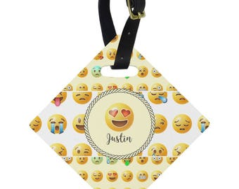 Emojis Diamond Luggage Tag (Personalized)