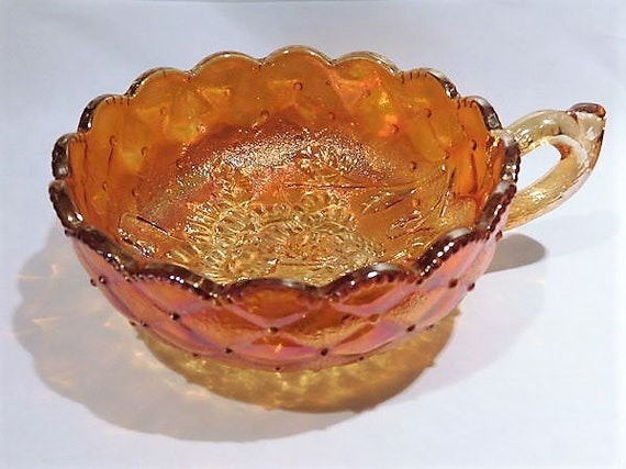 Imperial Glass  / Imperial Pansy / Glass Nappy /Rubigold / Marigold Carnival Glass