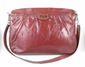 Etienne Aigner Handbag Oxblood Leather Vintage Purse