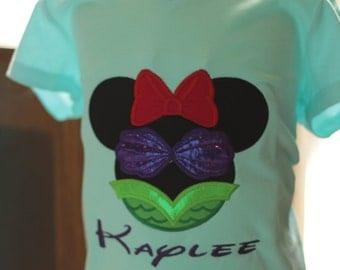 Minnie Mermaid shirt/Disney Minnie Mouse/Disney