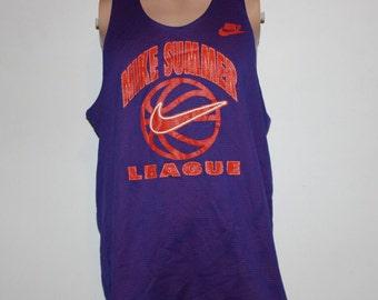 Vintage 1990's Nike Basketball Summer League Reversible Jersey XL