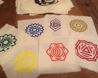 Set of 7 Chakra patches