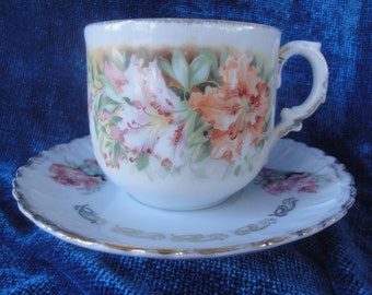 Bavarian Cup and Saucer/Floral Cup and Saucer