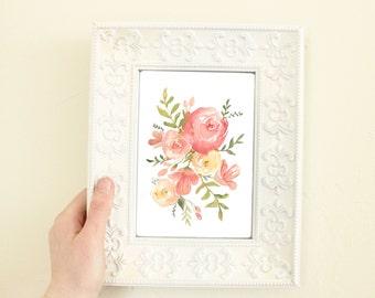 Flower Arrangement Watercolor Print