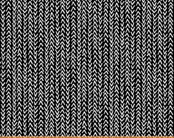 Windham Harmony Black and White Black with White Arrow Fabric BTY