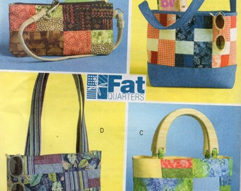 Butterick FAT QUARTERS HANDBAGS Pattern 4561