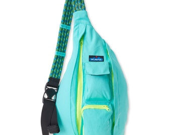 Monogrammed Kavu Rope Bags - Mint -  Great for teens, women, girls of all ages.  Great  for Birthdays, Anniversaries, etc