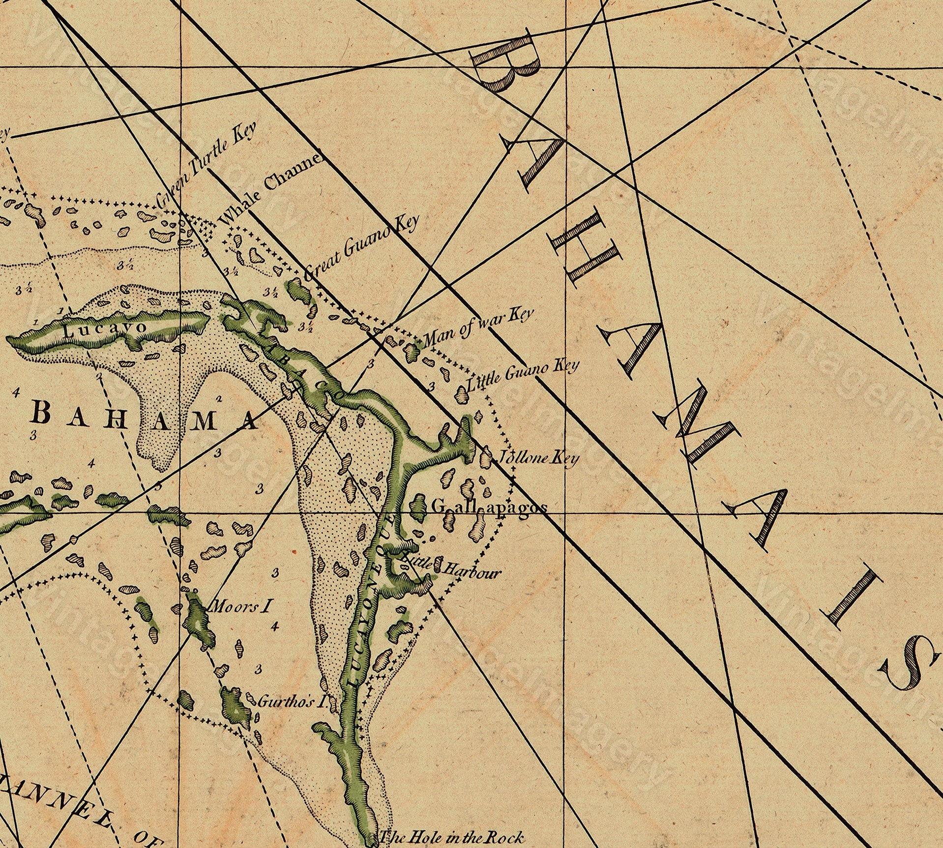 Restoration Hardware Florida: Old Florida Map 1775 Restoration Hardware Style Vintage