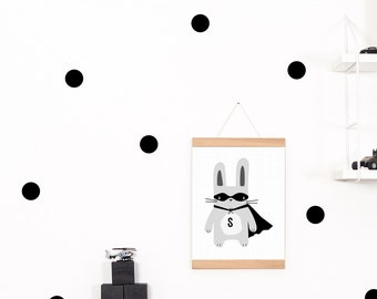 Wall decals / wall stickers 30 points of dots black