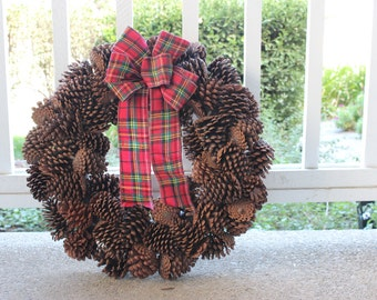 Faux Pinecone Wreath