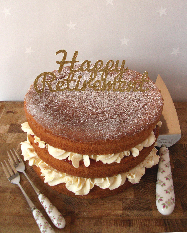 Retirement Cake Topper Happy Retirement Cake Topper